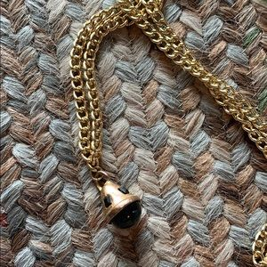 Heavy Gold and Black Vintage Goth Pendent